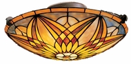 Kichler 69030 Tiffany Art Glass Creations Sonora 3 Light Semi Flush Ceiling Fixture