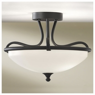 Feiss SF295BK Merrit Contemporary Semi-Flush Ceiling Light