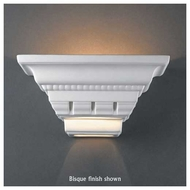 Justice Design 1440 Ambiance Small Crown Molding Wall Sconce