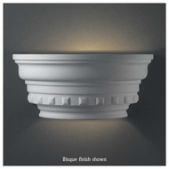 Justice Design 9805 Ambiance Curved Dentil Molding w/ Glass Shelf Wall Sconce