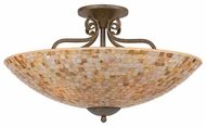 Quoizel MY1723ML Monterey Mosaic Large Semi-Flush Ceiling Light