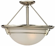 Quoizel NA1716BN New England 3-Light Semi-Flush in Brushed Nickel