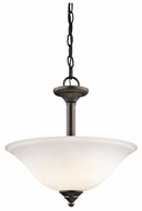 Kichler 3694CHW Armida  Convertible Inverted Pendant or Semi-Flush Mount Ceiling Light