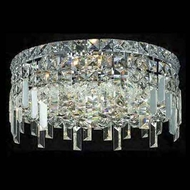 Worldwide 33606 Worldwide 14  4-light Crystal Flush-Mount Ceiling w/ Accent