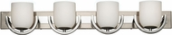 Forecast F4357-35 Calypso 4 Light Chrome/Satin Nickel Bathroom Fixture