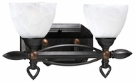 PLC 13722 Hampton 2 Light Vanity Light in Oil Rubbed Bronze