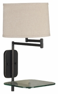 Kenroy Home 20947ORB Tabula Oil Rubbed Bronze 23 Inch Tall Swing Arm Wall Lamp With Tray