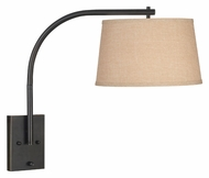 Kenroy Home 20950ORB Sweep 21 Inch Tall Downbridge Wall Lamp - 21 Inches Tall