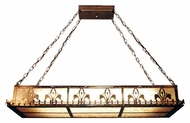 Meyda Tiffany 19234 Fleur-de-lis Fluorescent Island Light