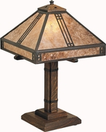 Arroyo Craftsman PTL-12 Prairie Craftsman Table Lamp - 18.375 inches tall