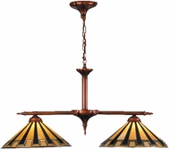Meyda Tiffany 81036 Steppe 2 Light Tiffany Kitchen Island Lighting Fixture
