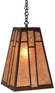 Arroyo Craftsman AH-12 Asheville Craftsman Chain Hung Pendant Light - 12 inches wide