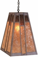 Arroyo Craftsman AH-16 Asheville Craftsman Chain Hung Pendant Light - 16 inches wide