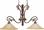 Kichler 3818PRZ Cheswick Parisian Bronze 2-Light Traditional Island Light