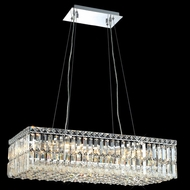 Elegant 2034D28C-RC Maxim Medium 28  Long Crystal Kitchen Island Light