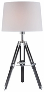 Lite Source LS21678 Jiordano Tripod Contemporary Wooden Table Light