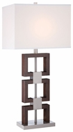 Lite Source LS22078 Nizanna Steel and Wood Table Lamp