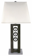 Lite Source LS2450 Pelota Dark Walnut Wooden Table Lamp