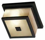 Kenroy Home 70215ORB Plateau Outdoor Oil Rubbed Bronze Flush Mount Ceiling Light
