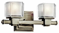 Kichler 45142NI Rocklin 2-Lamp Vanity Light in Brushed Nickel