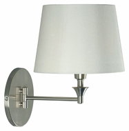 Kenroy Home 32180BS Martin Transitional Style Swing Arm Brushed Steel Wall Lamp