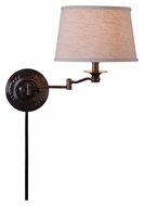 Kenroy Home 32217CBZ Riverside Swing Arm 17 Inch Tall Copper Bronze Wall Lamp