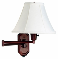 Kenroy Home 30130BRZ Nathaniel Bronze Finish 16 Inch Tall Swing Arm Wall Lamp