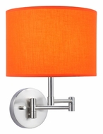 Lite Source LS16515ORN Kaden Orange 11 Inch Tall Swing Arm Wall Lamp - Transitional