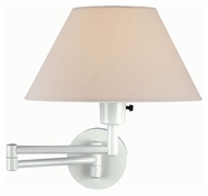 Lite Source LS1171WHT Swinger Transitional White 15 Inch Tall Wall Lamp