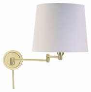 House of Troy TH725-RB Townhouse Raw Brass Finish 15 Inch Tall Swing Arm Wall Lamp