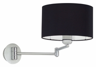 EGLO 88315A Halva Brushed Aluminum Finish Swing Arm 10 Inch Tall Wall Lamp