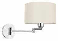 EGLO 88563A Halva 9 Inch Diameter Swing Arm Wall Lamp - White Shade