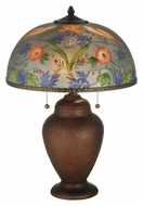 Meyda Tiffany 135011 Reverse Painted 16 Inch Wide Strawberry Thief Table Lamp Lighting