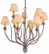Troy F9379SY-SH Sycamore Hardback Optional SH Hand-Forged Iron Medium, Rustic Chandelier with Sycamore Finish