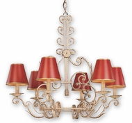 Troy F9805BW Holly Hill Red Tole Rustic Chandelier in Biron White