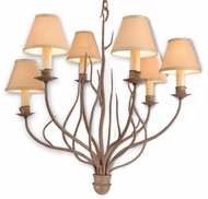 Troy F9376SY-SH Sycamore Hardback SH Hand-Forged Iron Small, Rustic Chandelier with Sycamore Finish
