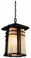 Kichler 49180 North Creek 10 Inch Diameter Craftsman Outdoor Hanging Pendant Lighting Fixture - Bronze