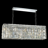 Elegant 2018D44C-RC Maxim Large Clear Crystal Island Light Fixture