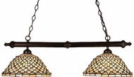 Meyda Tiffany 18850 Diamond Jewel 2 Light Tiffany Kitchen Island Ceiling Light