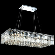 Elegant 2034D36C-RC Maxim Extra Large 36  Long Crystal Island Lighting