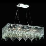 Elegant 2035D32C-RC Maxim Large 32  Square Crystal Island Lighting