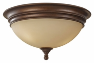Feiss FM375PRBZ Yorktown Heights 14 Inch Diameter Flush Mount Lighting Fixture - Prescott Bronze