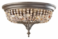 Feiss FM376RI Maarid Rustic Iron Finish Flush Mount Ceiling Light Fixture