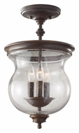 Feiss SF309HTBZ Pickering Lane Semi Flush Mount 10 Inch Diameter Ceiling Lamp