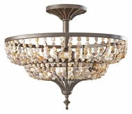 Feiss SF311RI Maarid Transitional Style 18 Inch Diameter Semi Flush Ceiling Lighting - Rustic Iron