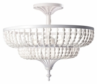 Feiss SF311WSG Maarid Semi Flush Mount White Semi Gloss Ceiling Light Fixture