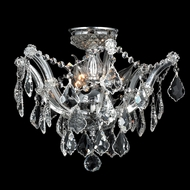 Worldwide W33116C16-CL Bayou Semi Flush Clear Crystal 16 Inch Diameter Overhead Lighting - Small