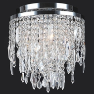 Worldwide W33125C12 Tempest Medium 12 Inch Diameter Crystal Flush Lighting