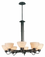 Kenroy Home 90058CBZ Odyssey 8-Light Contemporary Chandelier