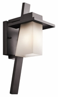 Kichler 49257AZ Stonebrook Small Modern 17 Inch Tall Architectural Bronze Outdoor Sconce Lighting